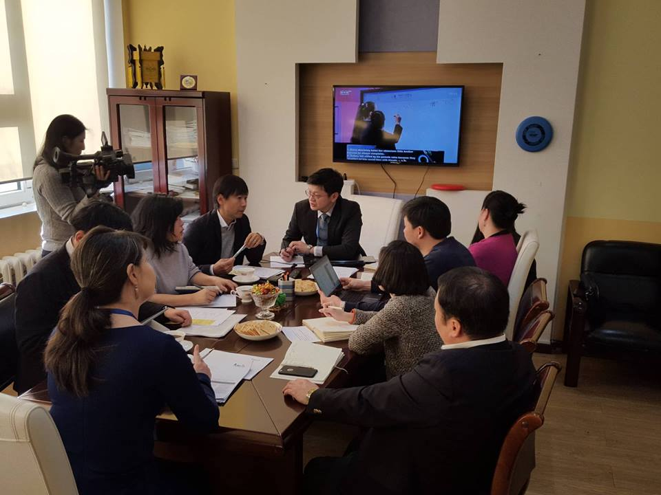 The producers of Japanese visited the Mongolian National Broadcaster